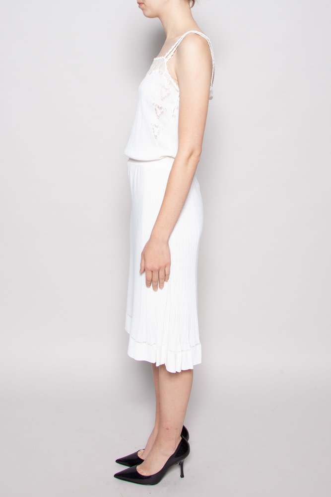 Chanel WHITE LACE DRESS AND CARDIGAN