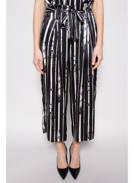 L'agence BELT PRINT SILK PANTS