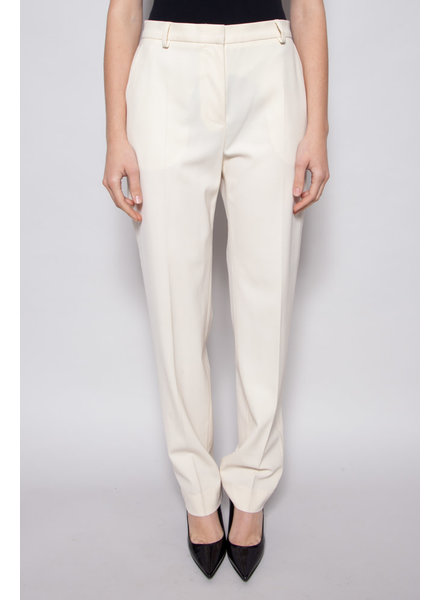 MaxMara IVORY PANTS MADE OF WOOL