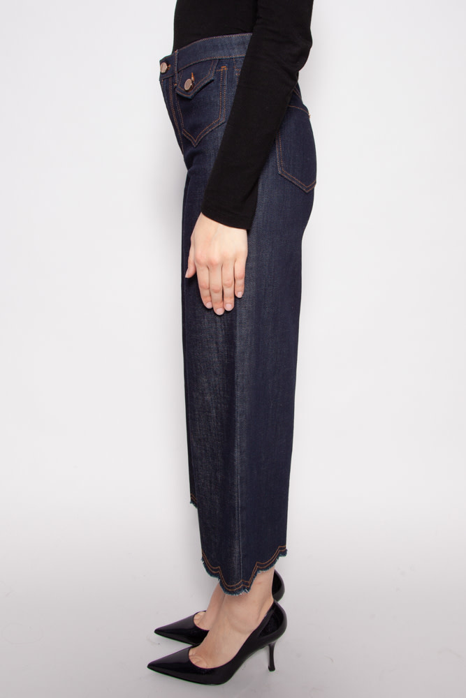 Red Valentino DARK FLARED JEANS - NEW WITH TAGS