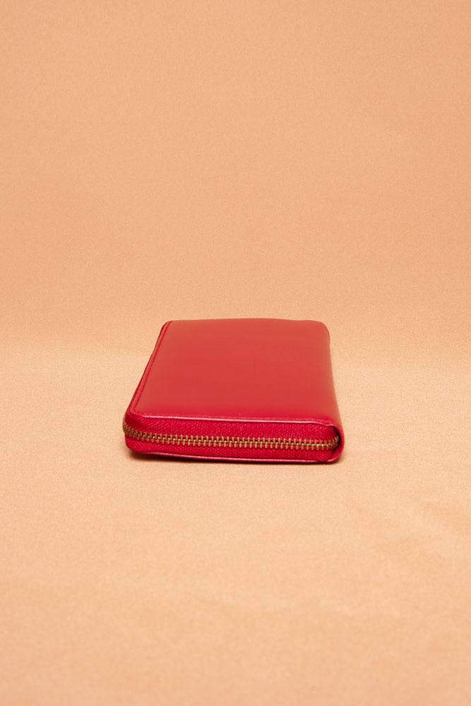 Comme des Garçons RED LEATHER WALLET - NEW WITH TAG