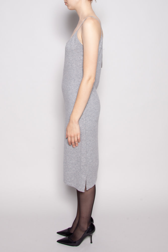 Holt Renfrew GRAY SLEEVELESS CASHMERE DRESS