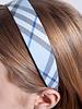 Burberry London  BLUE TARTAN PRINT HAIR BAND