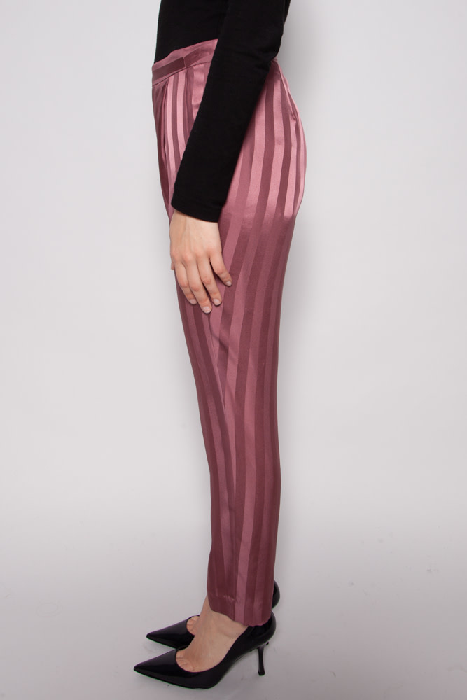 Michelle Mason PINK SILK TROUSERS- NEW WITH TAGS
