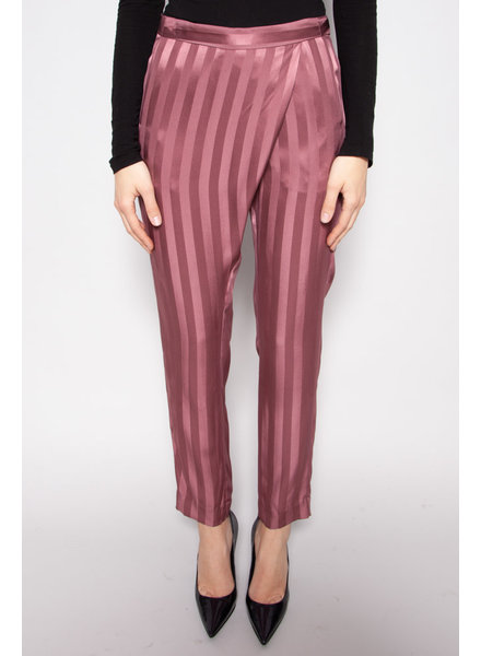 Michelle Mason PINK SILK TROUSERS - NEW WITH TAGS