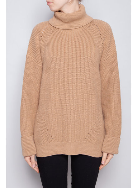 Joie CAMEL KNITTED SWEATER WITH TURTLE NECK