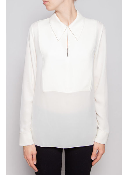 Theory IVORY SILK BLOUSE - NEW WITH TAG