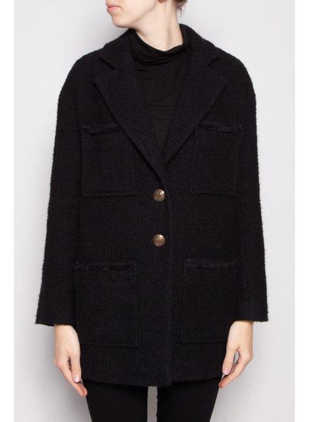 Maje NEW PRICE (WAS $220) - BLACK WOOL COAT