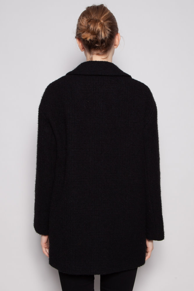 Maje BLACK WOOL COAT