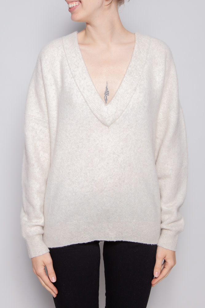 Iro BEIGE WOOL V NECK SWEATER - NEW WITH TAG