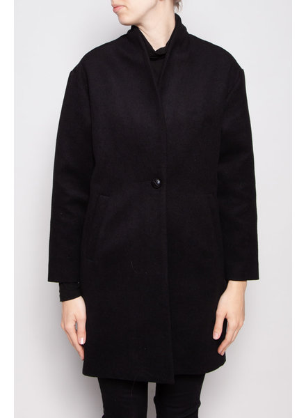 Francois Beauregard MANTEAU LONG NOIR