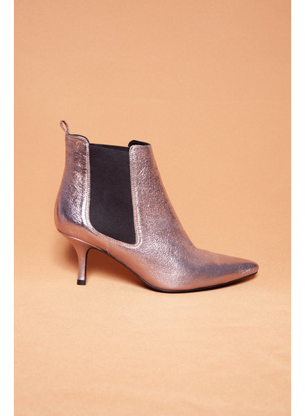 Anine Bing PINK SHINY ANKLE BOOTS