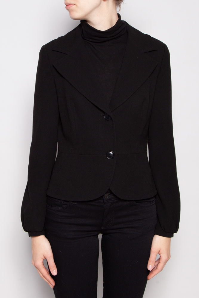 MaxMara BLACK FITTED BLAZER