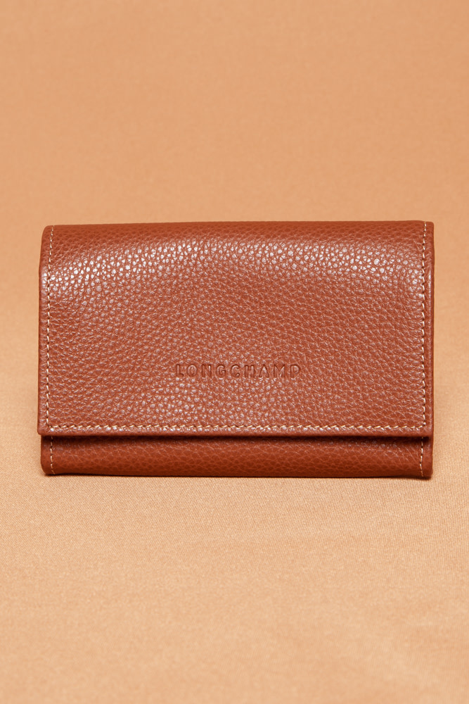 Longchamp BROWN LEATHER WALLET - NEW
