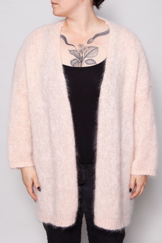 Des petits hauts PINK KNITTED CARDIGAN
