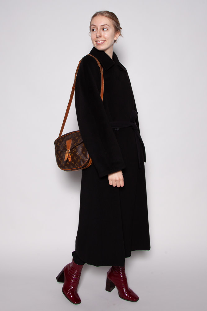 MaxMara NEW PRICE (WAS $695$) - BLACK WOOL AND CASHMERE COAT