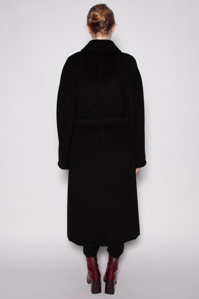 MaxMara BLACK WOOL AND CASHMERE COAT