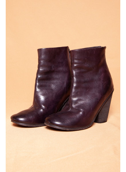 Marsèll BURGUNDY ANKLE BOOTS