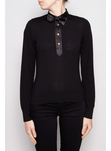 Love Moschino BLACK TOP WITH BOW