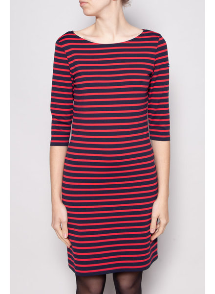 Saint James BLUE AND RED STRIPED DRESS