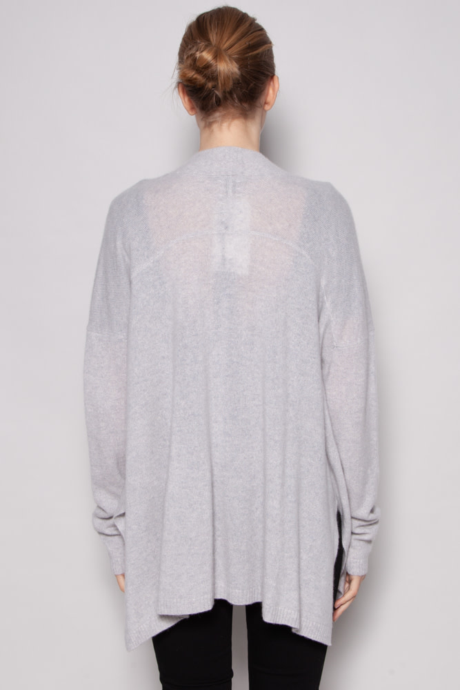 Saks Fifth Avenue GREY CASHMERE CARDIGAN - NEW WITH TAGS