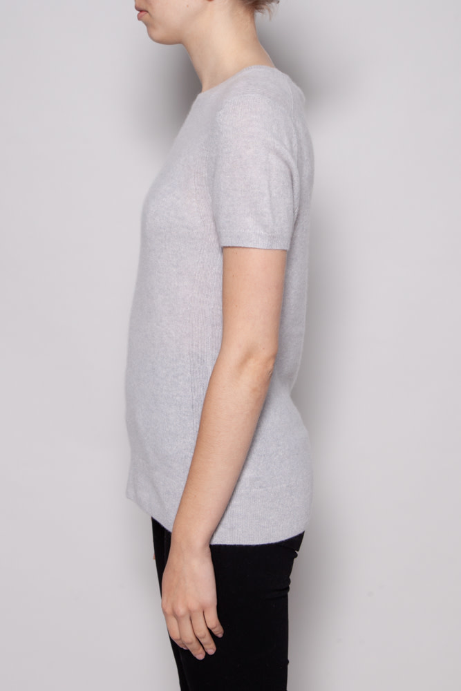 Saks Fifth Avenue GREY CASHMERE TOP - NEW WITH TAGS