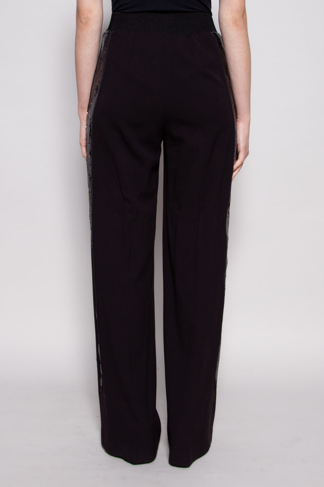 Denis Gagnon BLACK JOGGER STYLE TROUSERS WITH SEQUINS