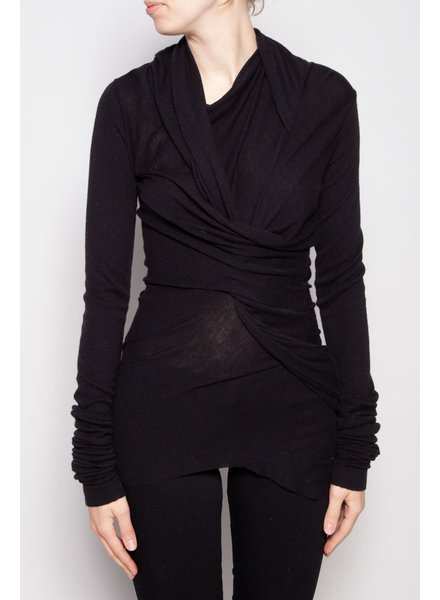RICKOWENSLILIES BLACK KNOTTED TOP