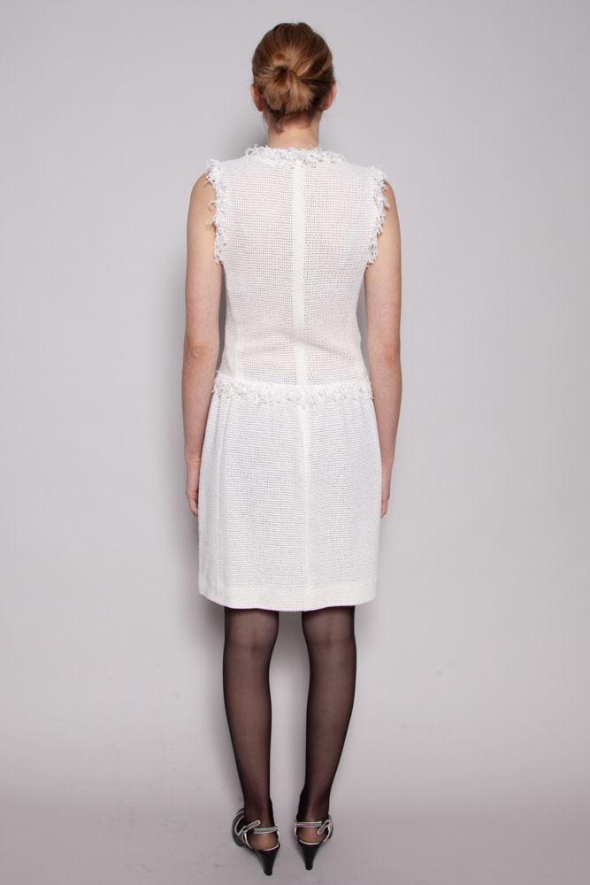 Chanel WHITE KNITTED DRESS