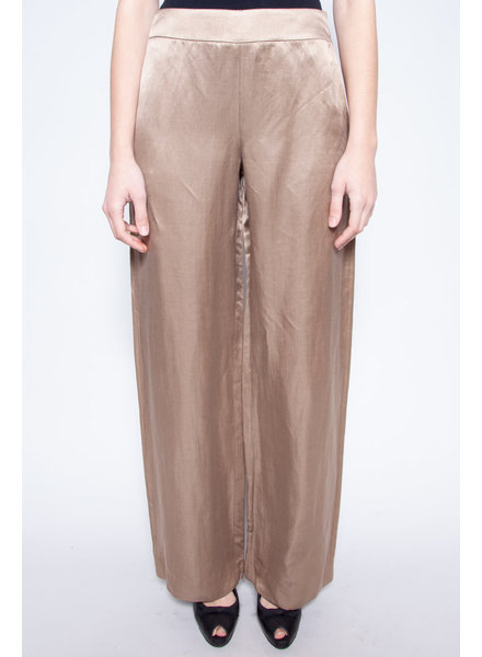 Giorgio Armani GOLDEN LINEN AND SILK WIDE-LEG PANTS