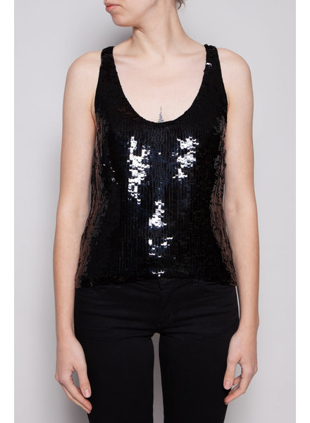Chanel BLACK SEQUINED TOP