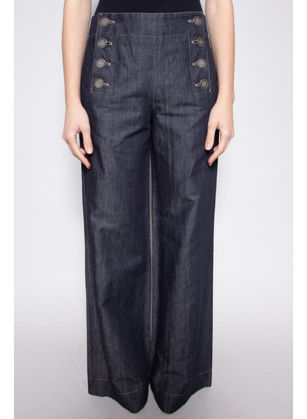 Jean Paul Gaultier NEW PRICE (WAS $320) - CHAMBRAY FLARED PANTS