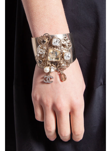 Chanel CUFF WITH JEWELERY AND CHANEL CHARM