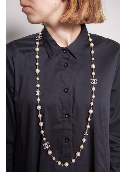 Chanel FAUX PEARLS AND CHARMS NECKLACE