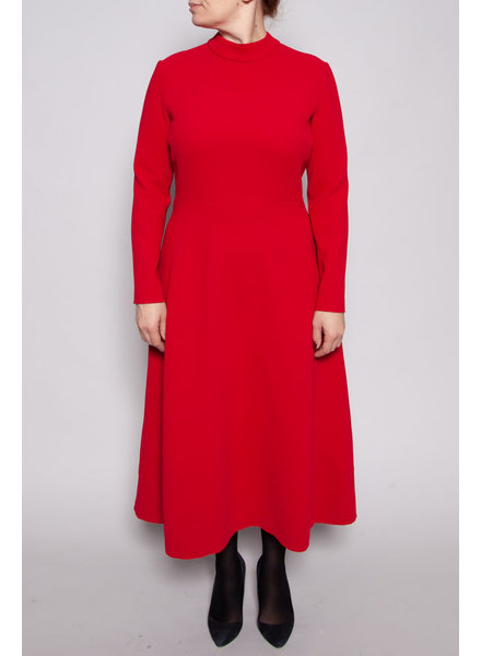 Éditions de Robes RED LONG SLEEVE DRESS