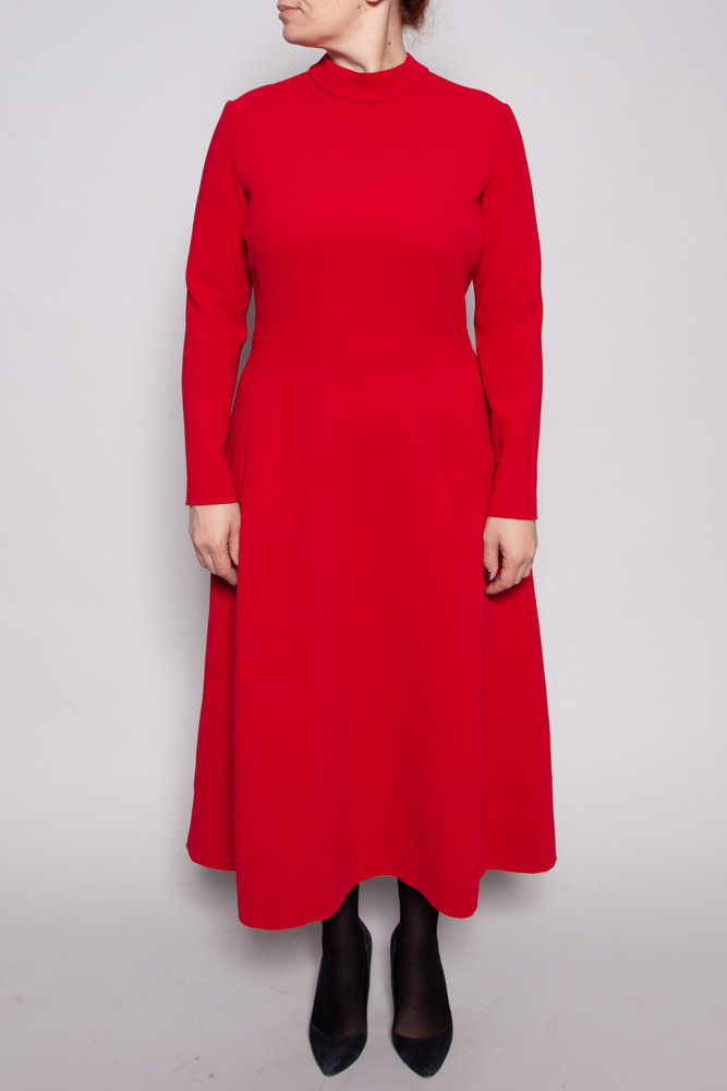 Éditions de Robes RED LONG SLEEVE DRESS