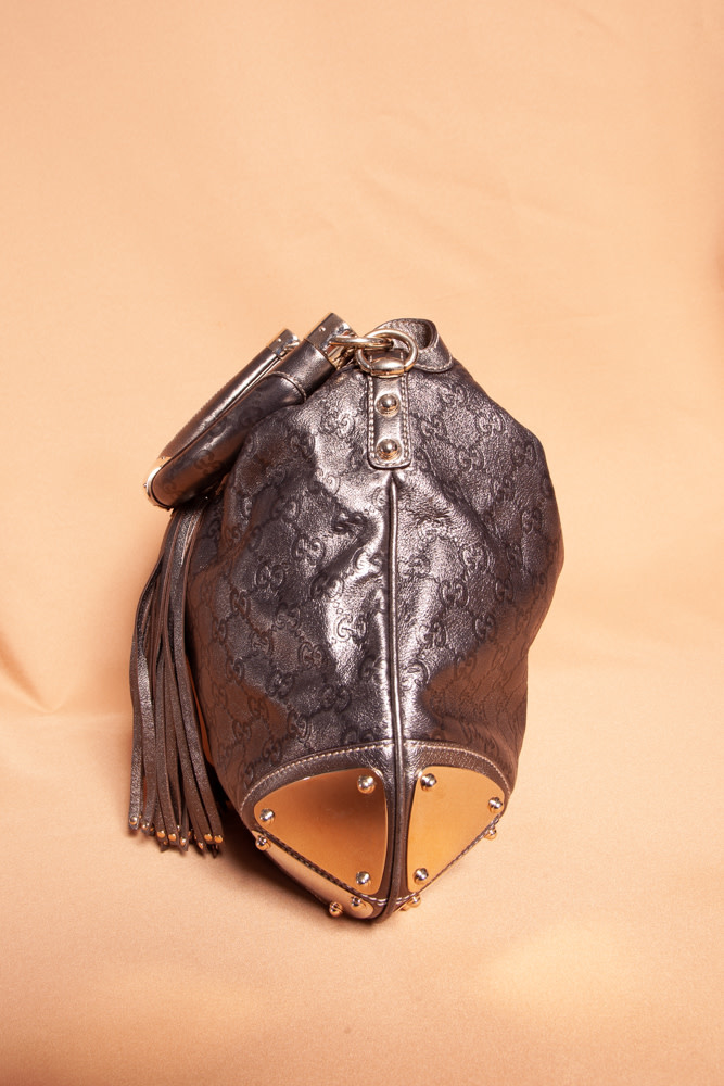 Gucci METALLIC BRONZE BABOUSKA INDY BAG