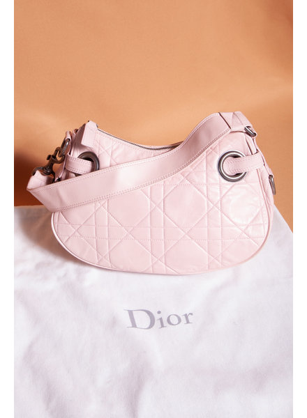 Dior SAC À MAIN ROSE HOBO CANNAGE