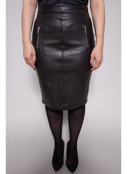 SET NEW PRICE (WAS $120) - ZIPPERED LEATHER SKIRT