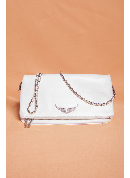 Zadig & Voltaire WHITE LEATHER HANDBAG