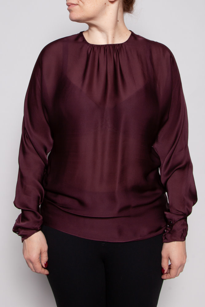 Ralph Lauren BURGUNDY SILK TOP