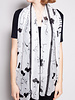 Christian Dior BLACK AND WHITE FLORAL SCARF