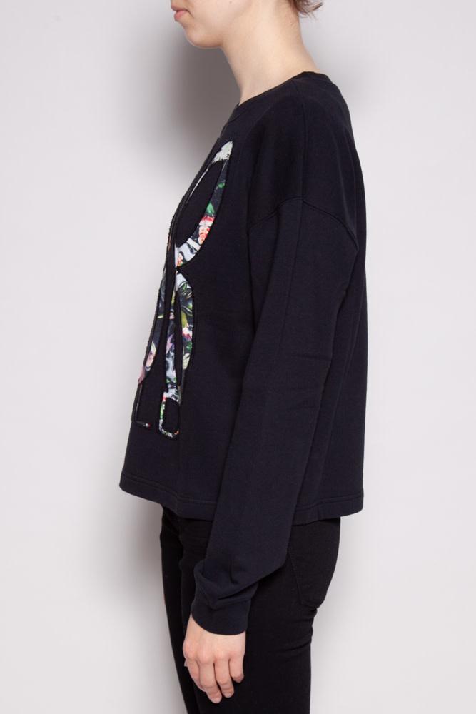 McQ Alexander McQueen BLACK SWEATSHIRT ''VOODOO CHILD'' - NEW WITH TAGS