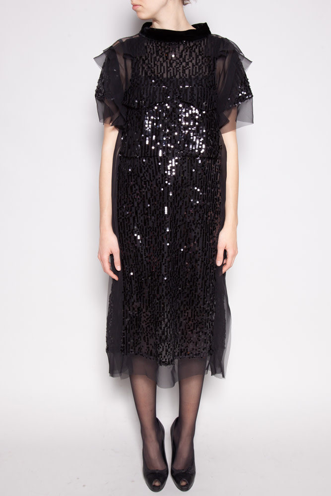 SACAI BLACK SEQUIN DRESS - NEW WITH TAGS