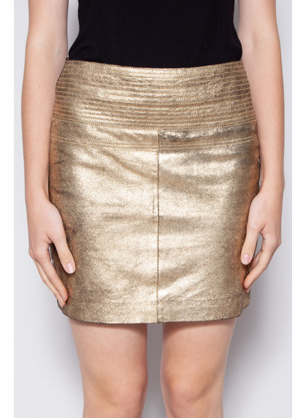 My Sunday Morning NEW PRICE (WAS $85) - GOLDEN GOAT SUEDE FOILED SKIRT