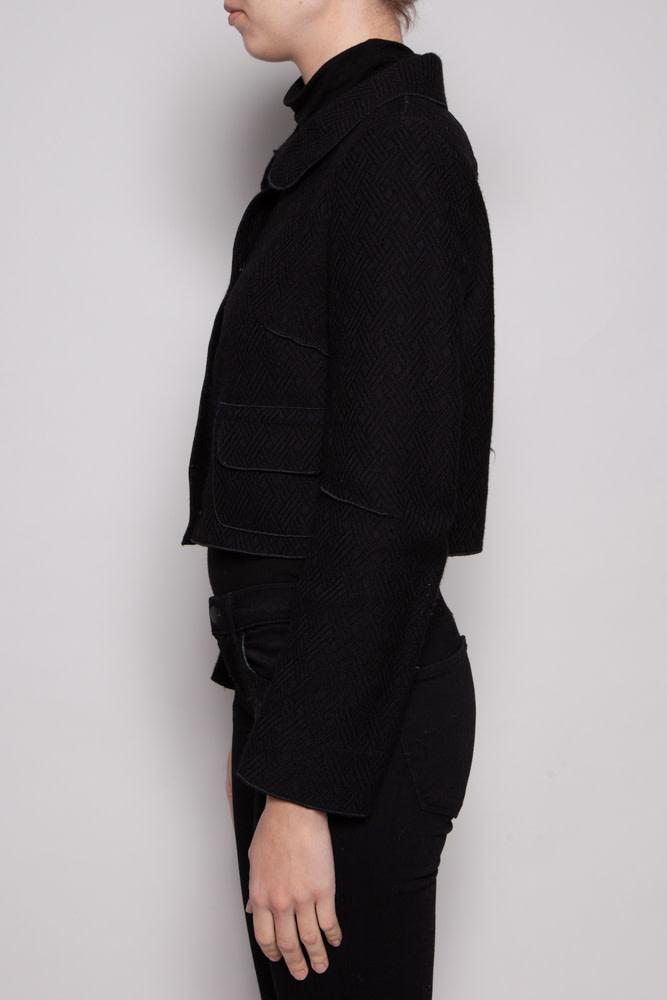 Dolce & Gabbana BLACK CROPPED BLAZER
