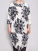 By Malene Birger CREAM SILK DRESS WITH BLUE PRINTS