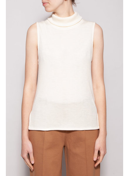 FWSS OFF-WHITE CREW NECK SLEEVELESS TOP - NEW WITH TAG