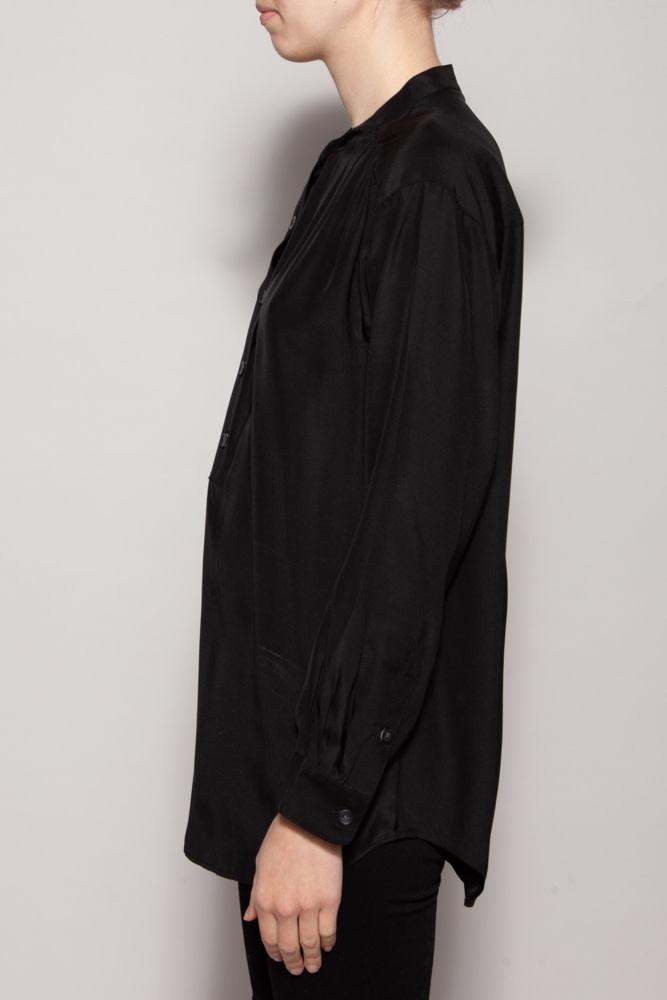 J Brand BLACK SILK SHIRT - NEW WITH TAG