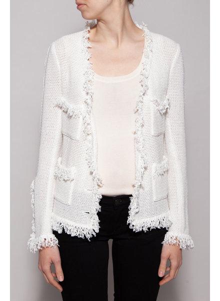 Chanel WHITE KNITTED BLAZER